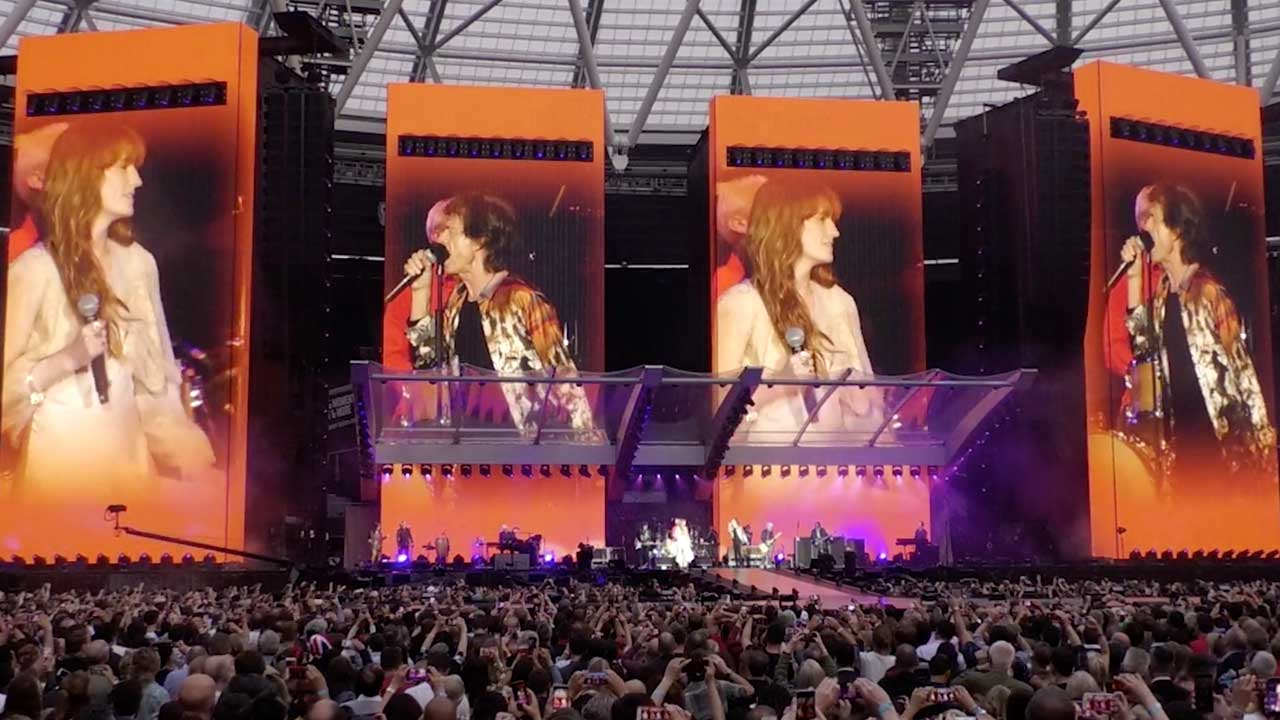 Rolling Stones launch live version of Wild Horses featuring Florence Welch