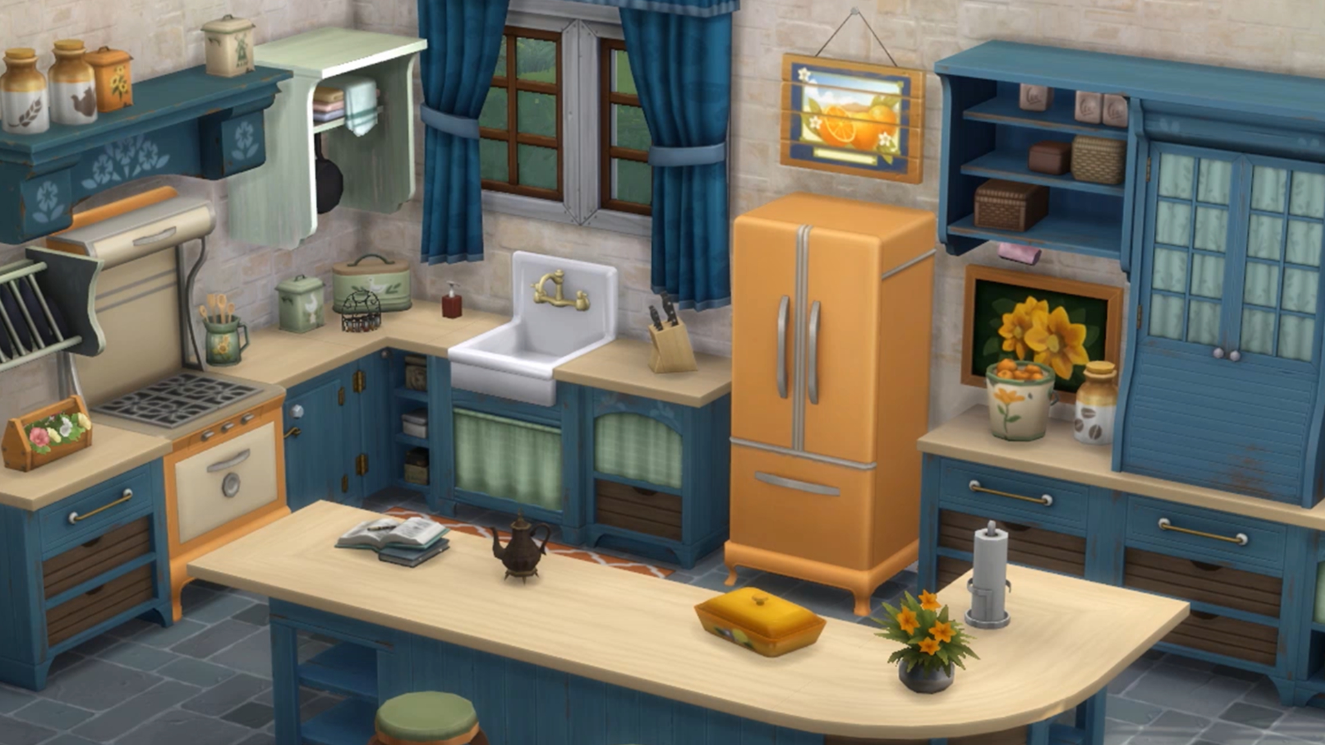 The Sims 4 Kits - Country Kitchen