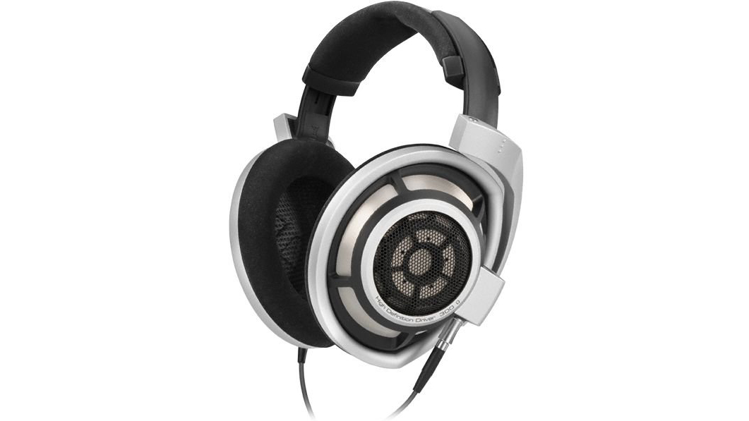 The Sennheiser HD 800 headphones in white and black