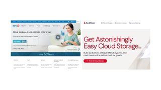 IDrive and Backblaze's homepages