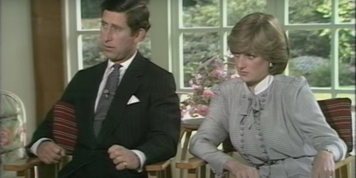 Prince Charles and Princes Diana on Thames TV