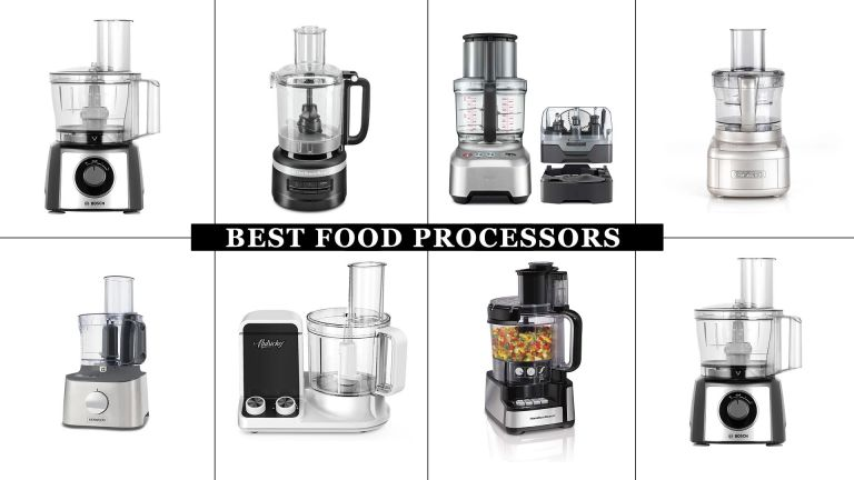 Our selection of the best food processors: featuring the KitchenAid 2.1L food processor, Bosch MultiTalent 3 MCM3501MGB food processor, and more