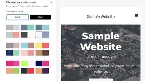 Constant Contact Website Builder's homepage