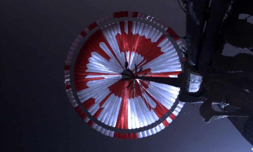 Internet sleuths solve secret message on Perseverance rover's Mars parachute