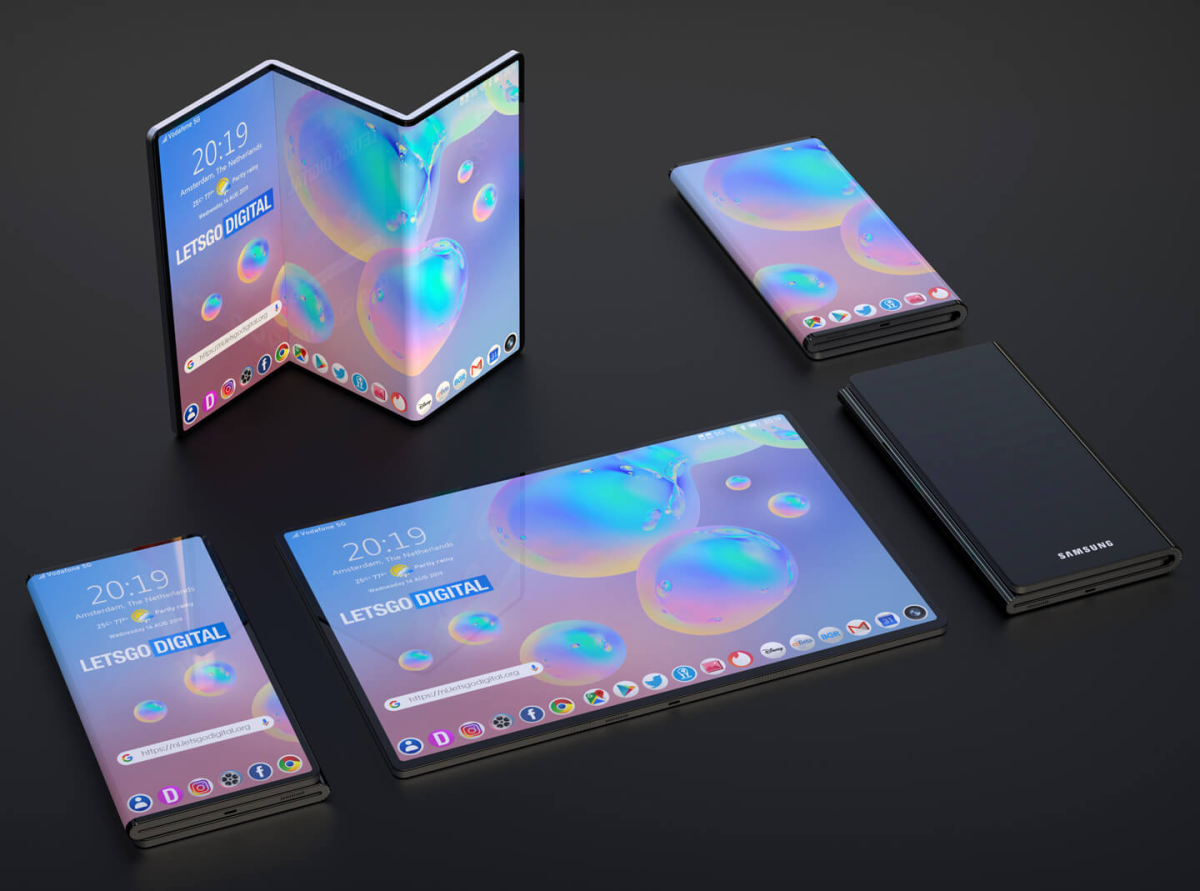 The Galaxy Z-Fold Is Samsung's Latest Ridiculous Foldable Phone Patent
