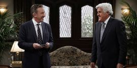 Looks Like Last Man Standing's Tim Allen And Jay Leno Have Reignited Their 'Car Duel' On Set