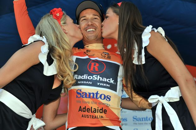 Robbie McEwen leads overall, Tour Down Under 2011, stage two
