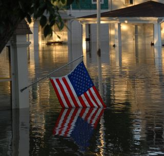 Flood American Flag