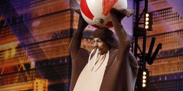 Watch America's Got Talent's Walrus Man Fall Off The Stage After Trick Gone Wrong