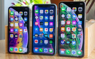 From left to right: iPhone XS, iPhone XR and iPhone XS Max