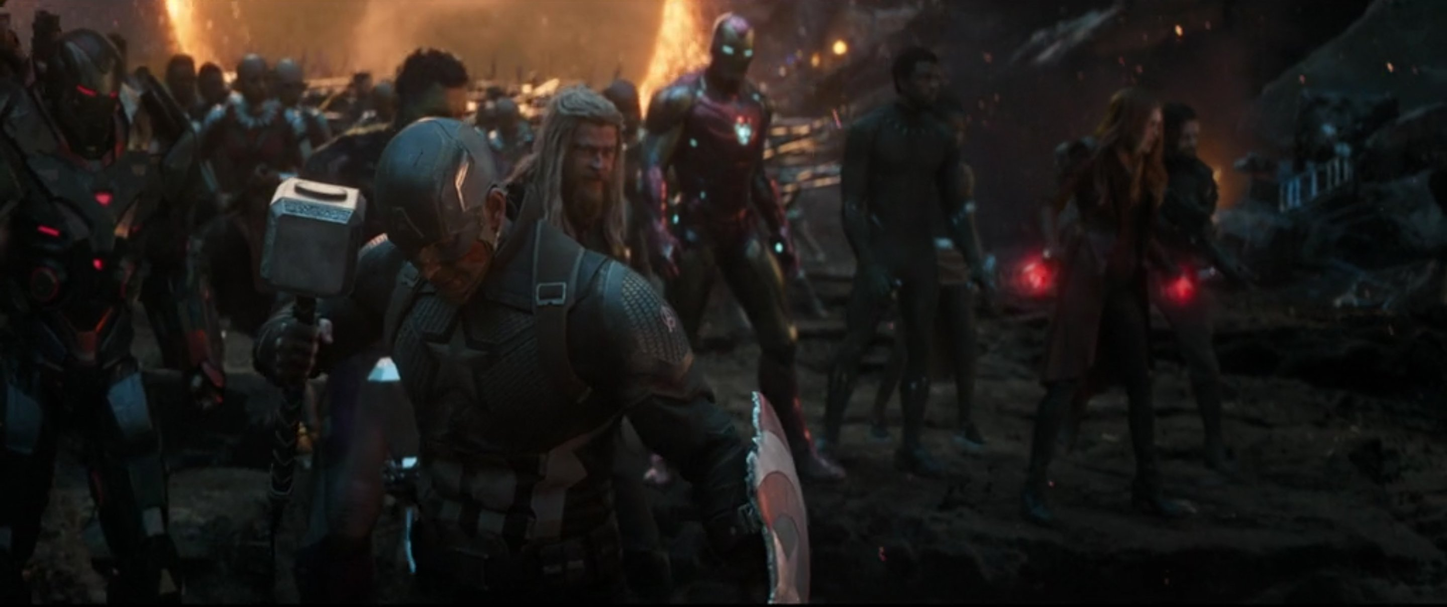 Avengers: Endgame end battle scene
