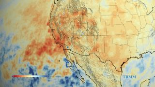 California's accumulated precipitation debt from 2012 to 2014
