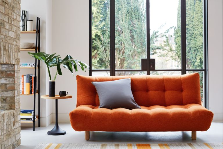 Habitat sofa bed in orange
