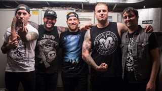 The Ghost Inside with Chris Davis, far right