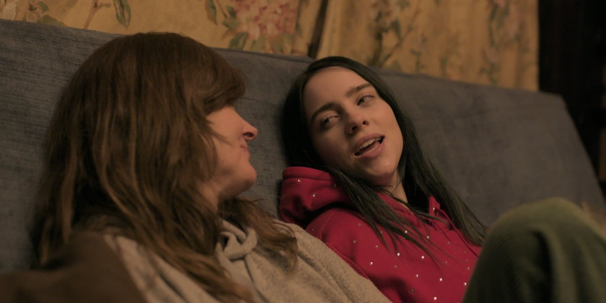Billie Eilish and her mom in A World's A Little Blurry