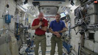 Scott Kelly and Mikhail Kornienko Talk, April 28, 2015