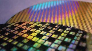 TSMC semiconductor chip close up