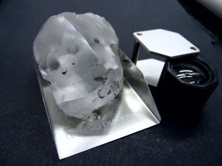 This 910-carat diamond was discovered in a mine in Lesotho, in southern Africa.