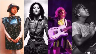 a collage of women who have changed rock