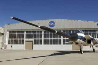 NASA Jet Bears Nose that Grows for Sonic Boom Tests