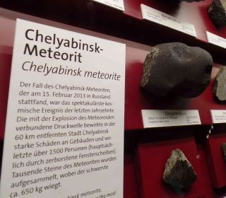 Chelyabinsk Meteorite Fragments at the Natural History Museum in Vienna