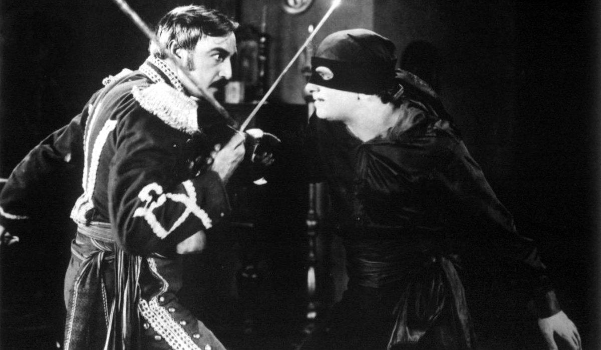 The Mark of Zorro Douglas Fairbanks fights as Zorro