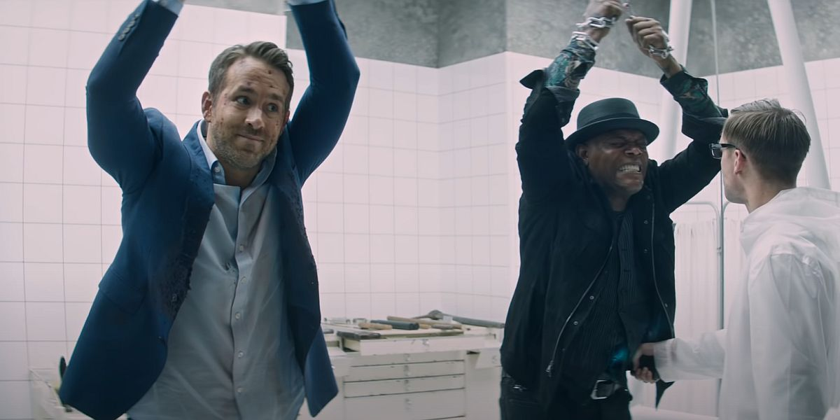 Ryan Reynolds and Samuel L. Jackson in The Hitman's Wife's Bodyguard