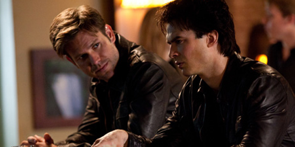 The Vampire Diaries Alaric and Damon at the bar