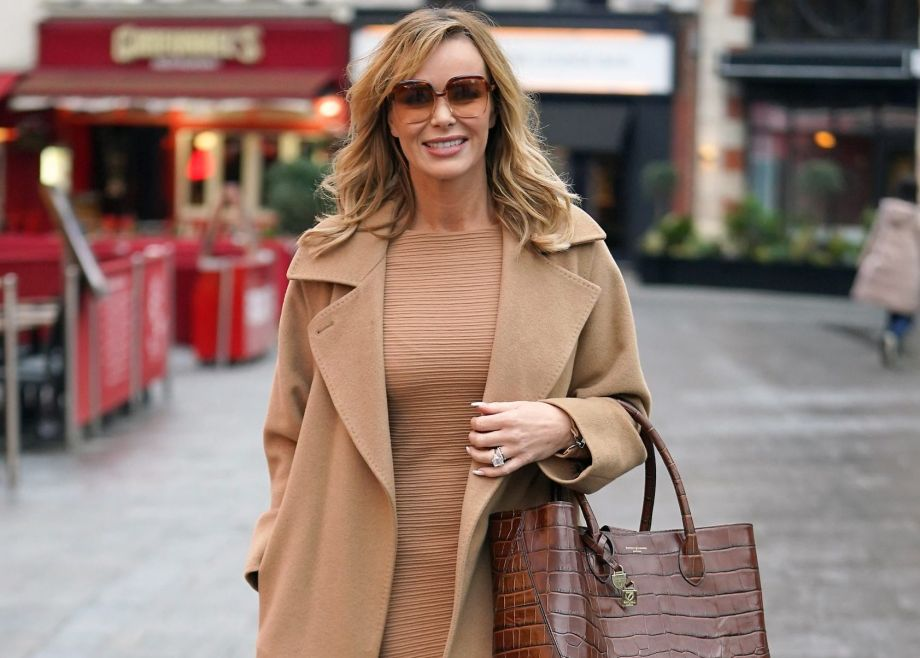 amanda holden in a camel dress