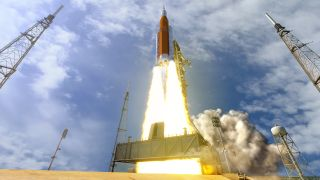 Orion on Space Launch System rocket