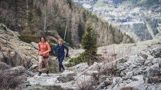 running vert in Chamonix