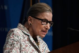 U.S. Supreme Court Justice Ruth Bader Ginsburg at Georgetown University Law Center in September, 2018.