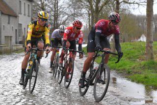 Ian Stannard (Team Ineos) leads the way at the 2020 Omloop Het Nieuwsblad