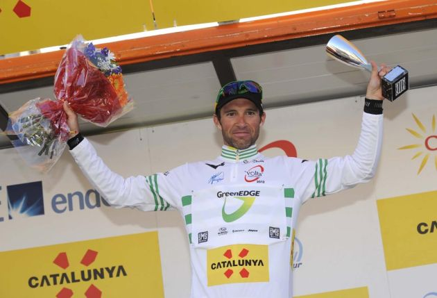 Michael Albasini leads, Tour of Catalonia 2012, stage four