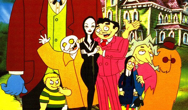 the addams family cartoon