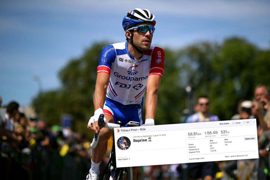 Thibaut Pinot back on bike following heartbreaking Tour de France exit