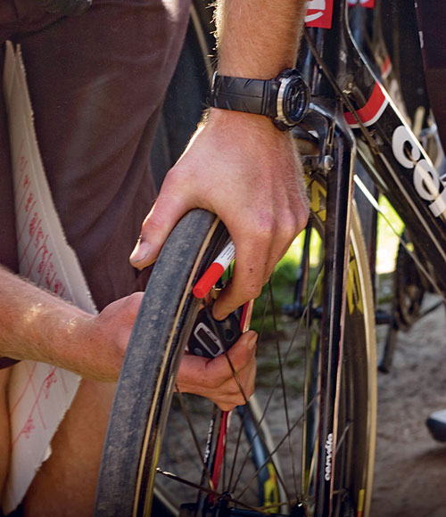 Tyre pressure, Paris-Roubaix 2011 tech
