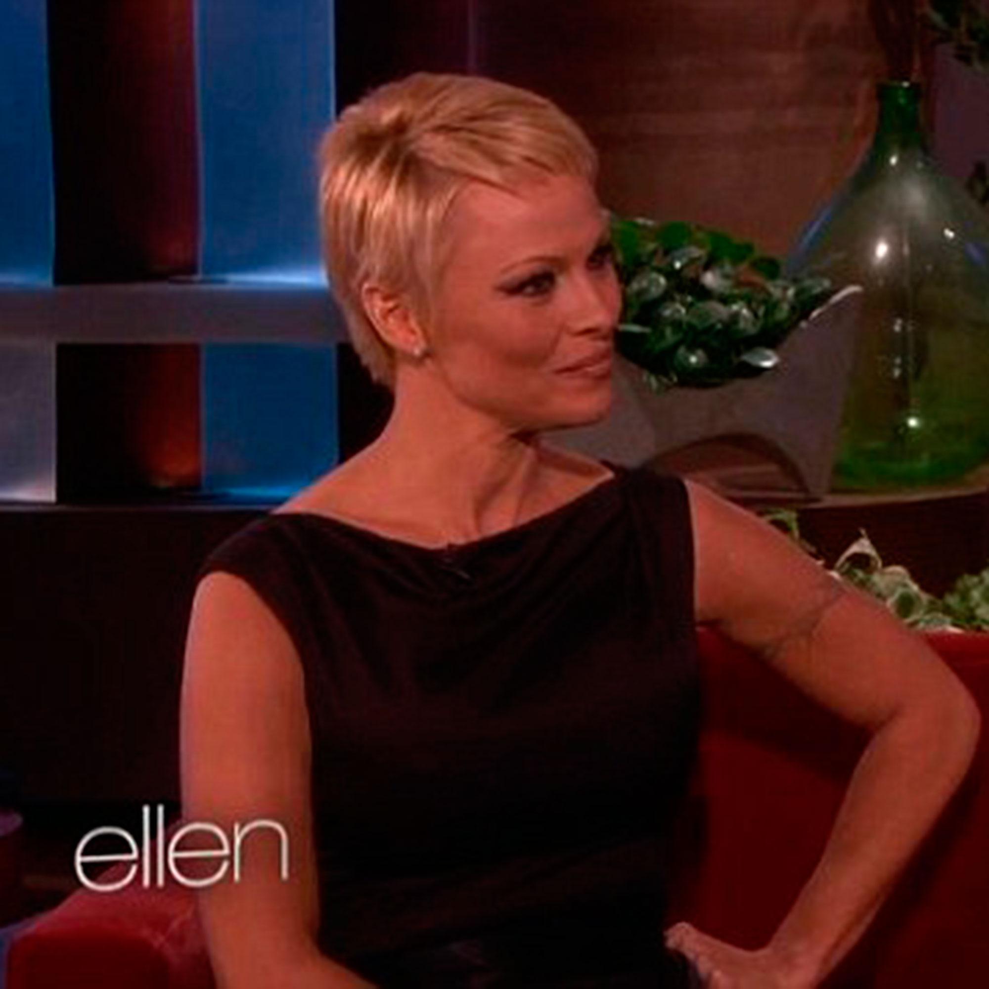 Pamela Anderson Ellen show
