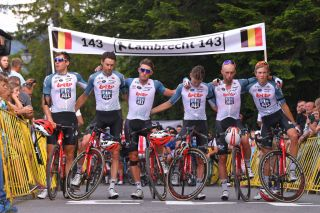 The Lotto Soudal riders remember Bjorg Lambrecht during the 2019 Tour de Pologne