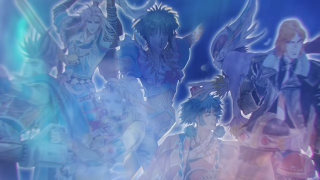 An image of the eight protagonists of science-fantasy JRPG SaGa Frontier Remastered