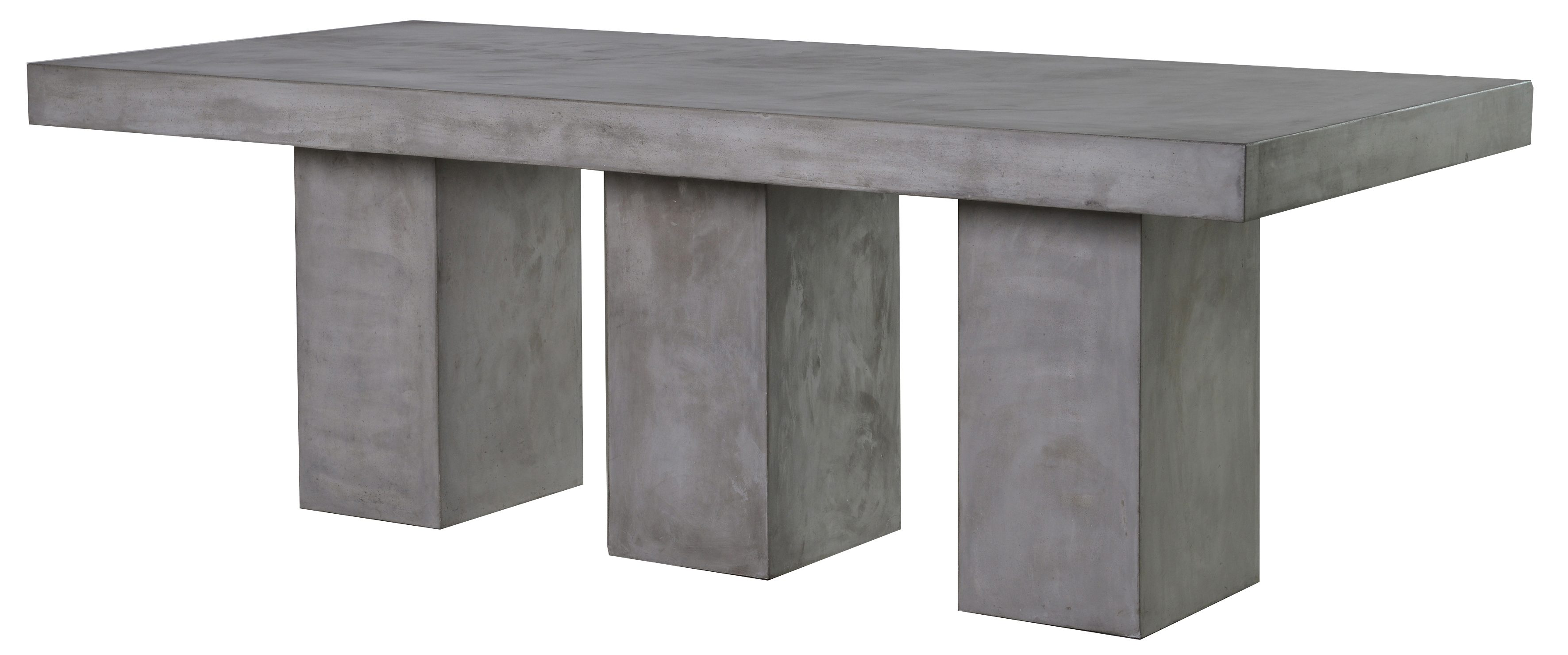 Rectangular concrete dining table £1250 from out there interiors