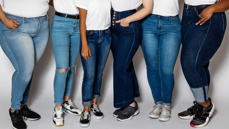 boyfriend jeans vs mom jeans: women wearing different styles of denim