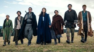 First Look! Amazon's The Wheel Of Time with Rosamund Pike as Moiraine (centre).