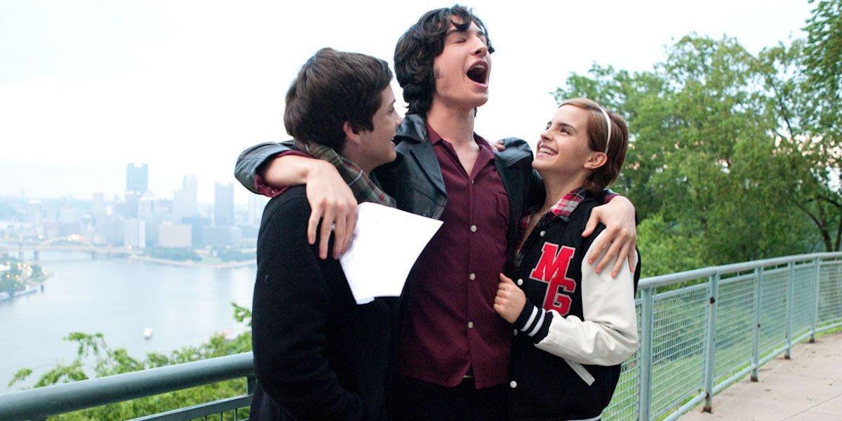 Logan Lerman, Ezra Miller and Emma Watson in The Perks of Being a Wallflower