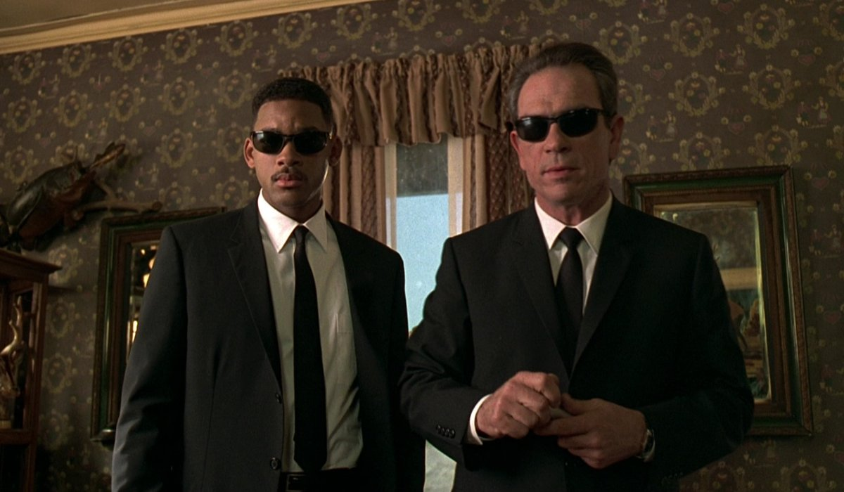 Men In Black Will Smith and Tommy Lee Jones are about to neurolyze someone.