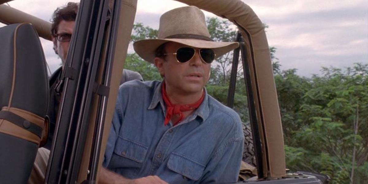 Sam Neill in Alan Grant in Jurassic Park