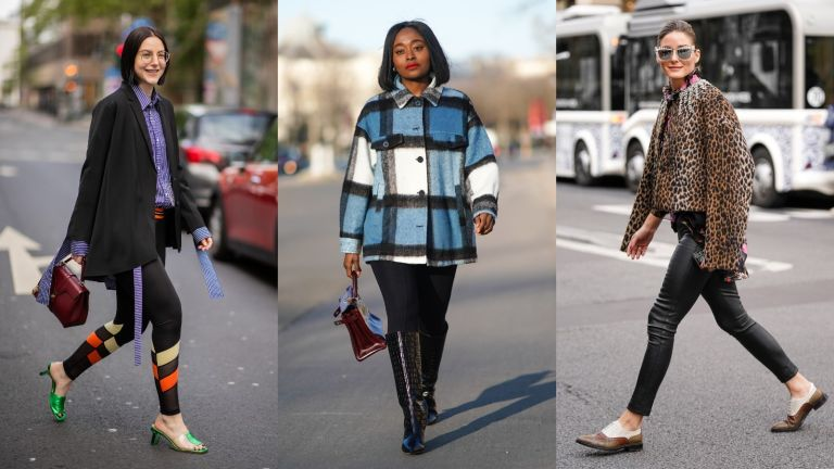 street style influencers wearing different leggings outfits