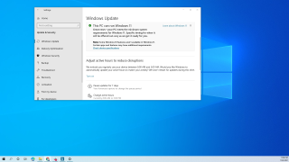 Windows update message