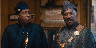 Semmi (Arsenio Hall) and Akeem (Eddie Murphy) look confused in Coming 2 America (2021)