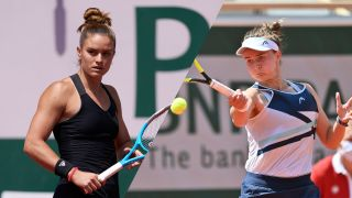 live stream Sakkari vs Krejcikova at the French Open 2021